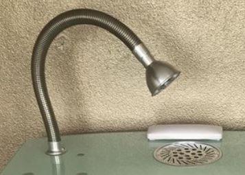 Complete afzuigslang inclusief lamp voor Uni-Table